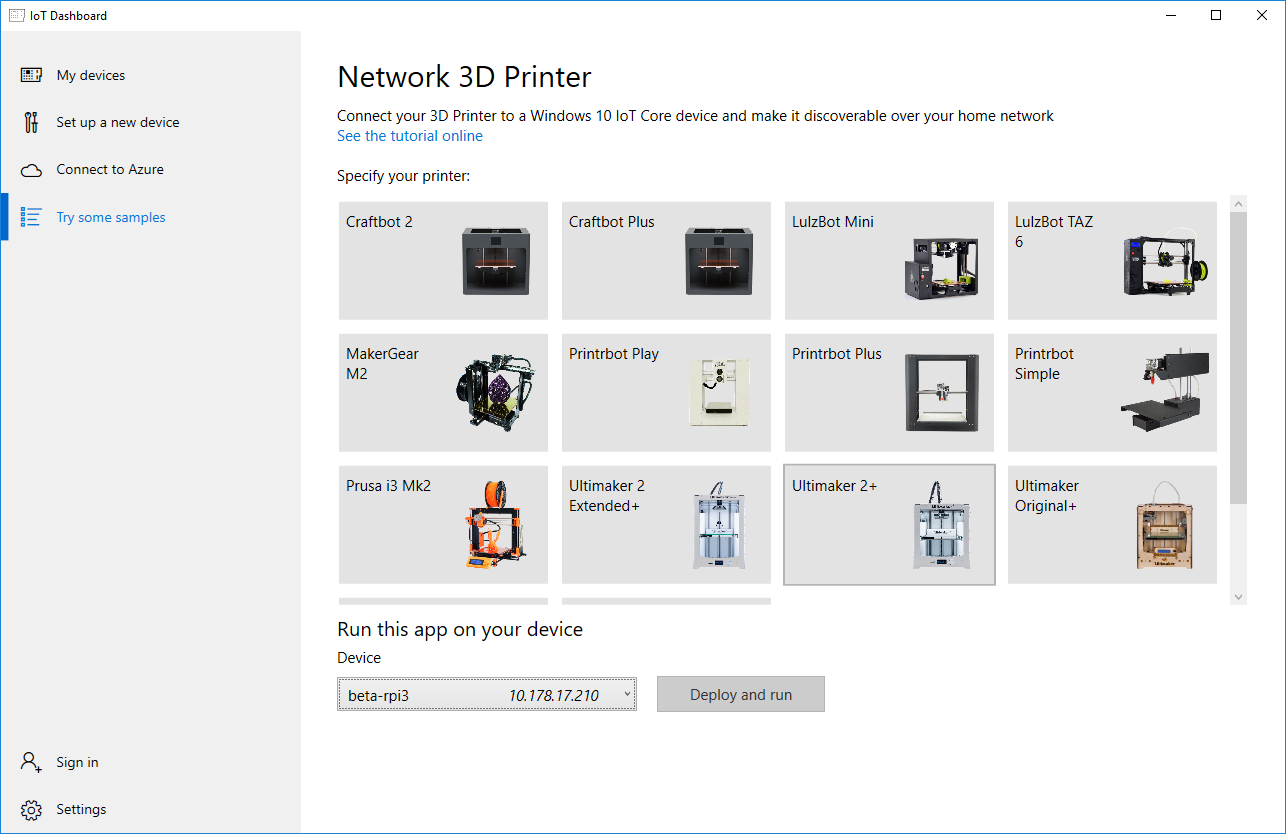 Network 3D Printer with Windows 10 IoT Core - Windows IoT