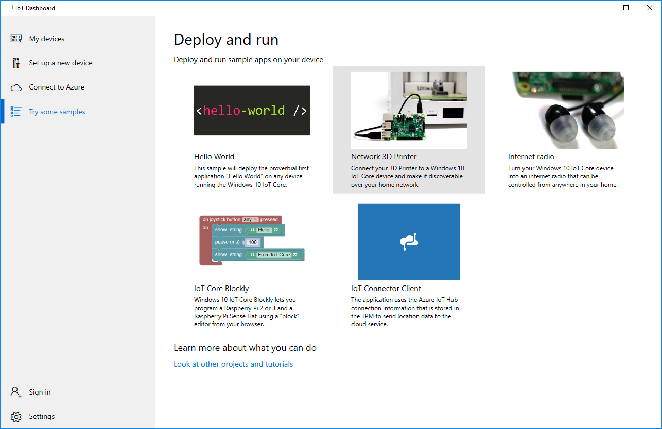 Network 3D Printer with Windows 10 IoT Core - Windows IoT