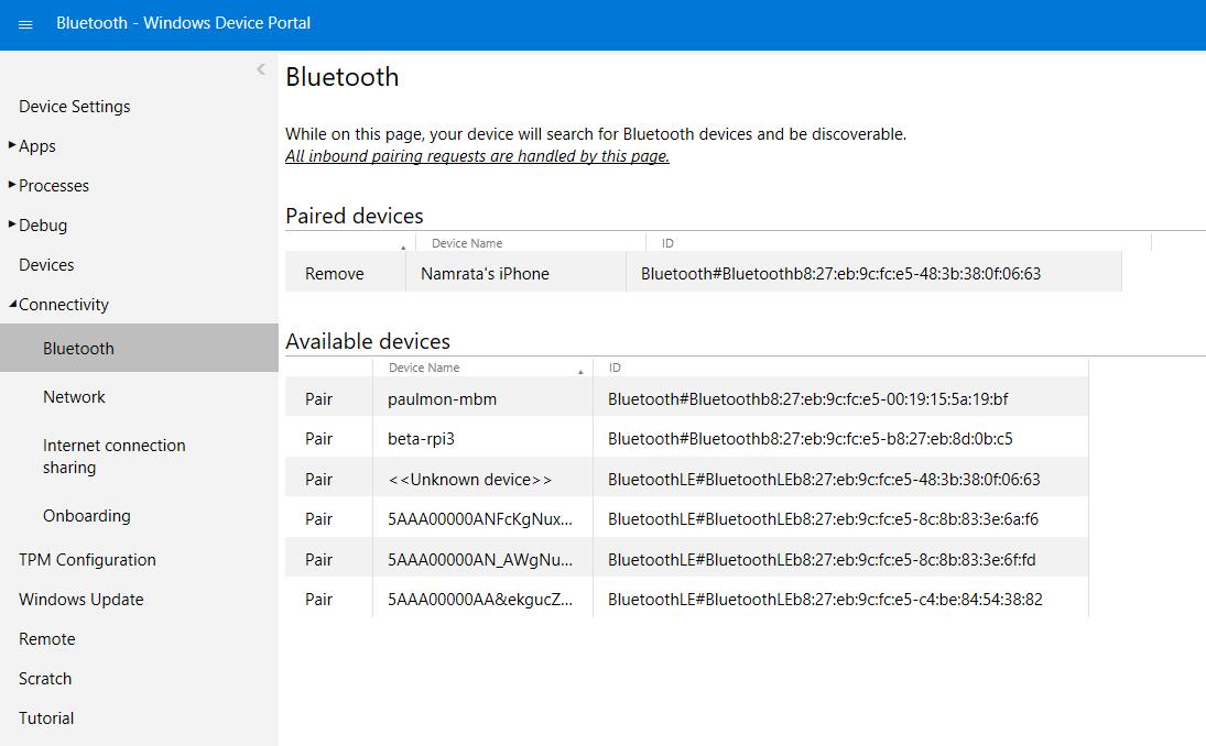 Bluetooth Support - Windows IoT | Microsoft Docs
