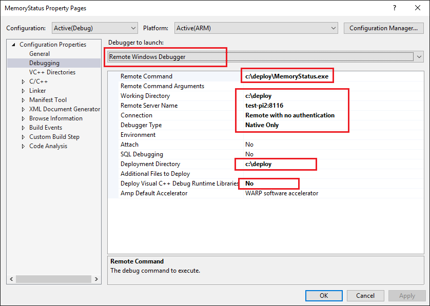 Debug your app using Remote Console App Debugging - Windows