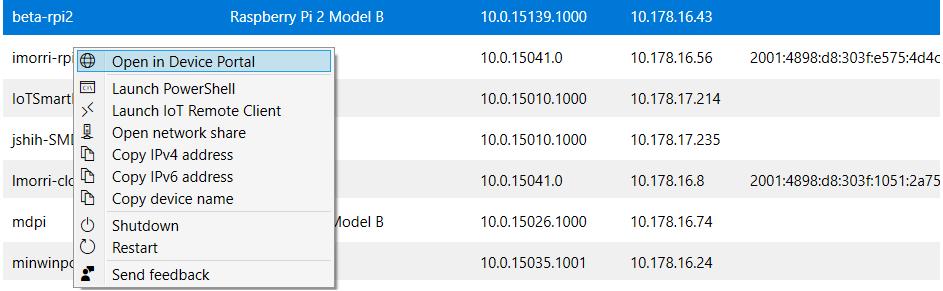 Windows 10 IoT Core Dashboard - Windows IoT | Microsoft Docs
