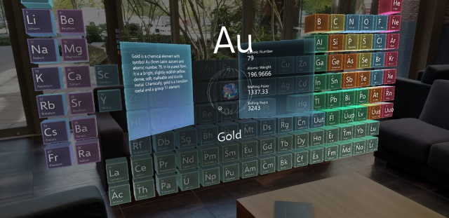 Periodic table of the elements mixed reality microsoft docs period table of the elements app urtaz