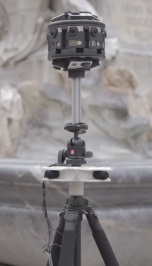Custom-made camera and microphone rig