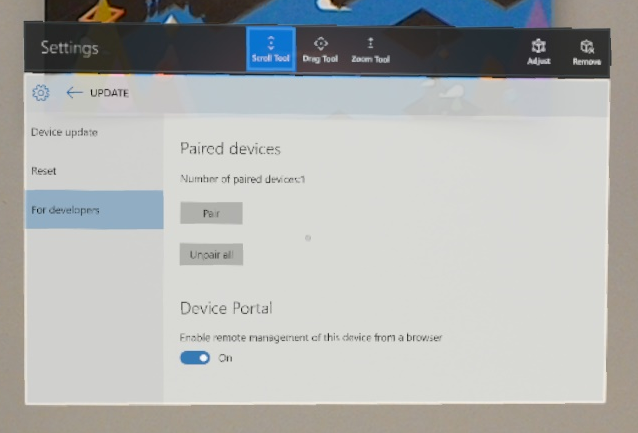 Using the Windows Device Portal - Mixed Reality | Microsoft Docs