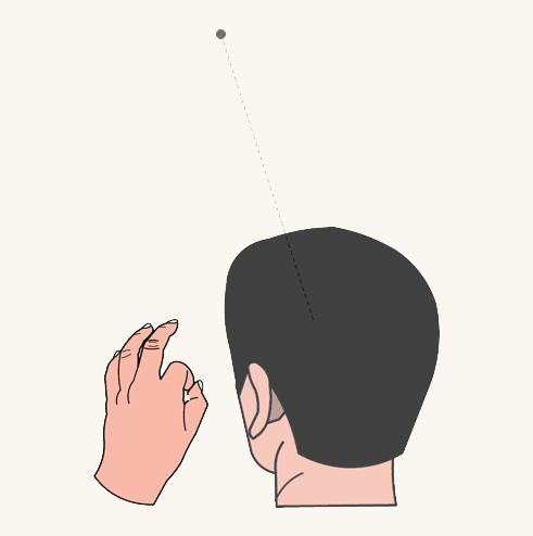 Head gaze cursor hand