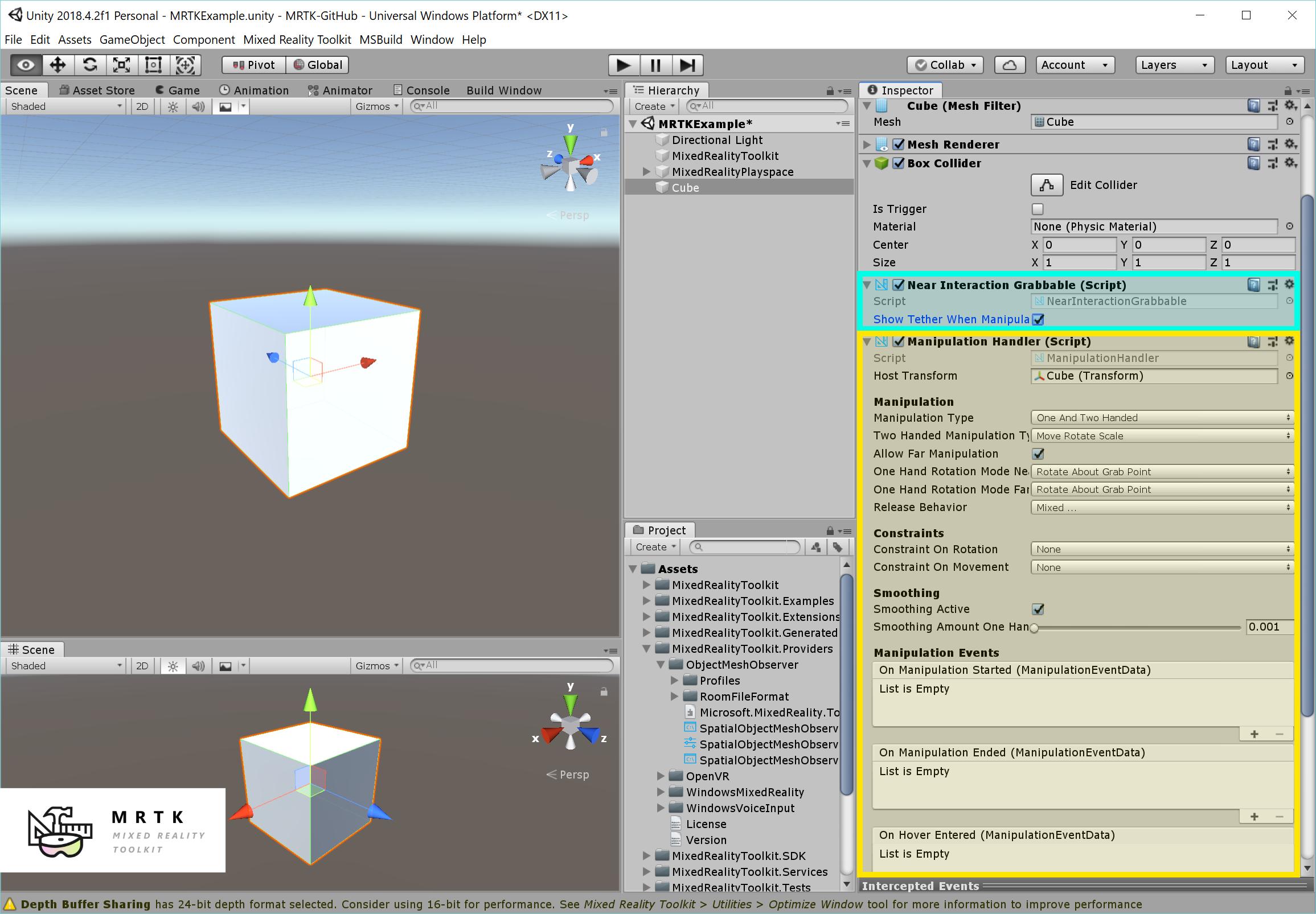 MRTK 101 - How to use Mixed Reality Toolkit Unity for Basic
