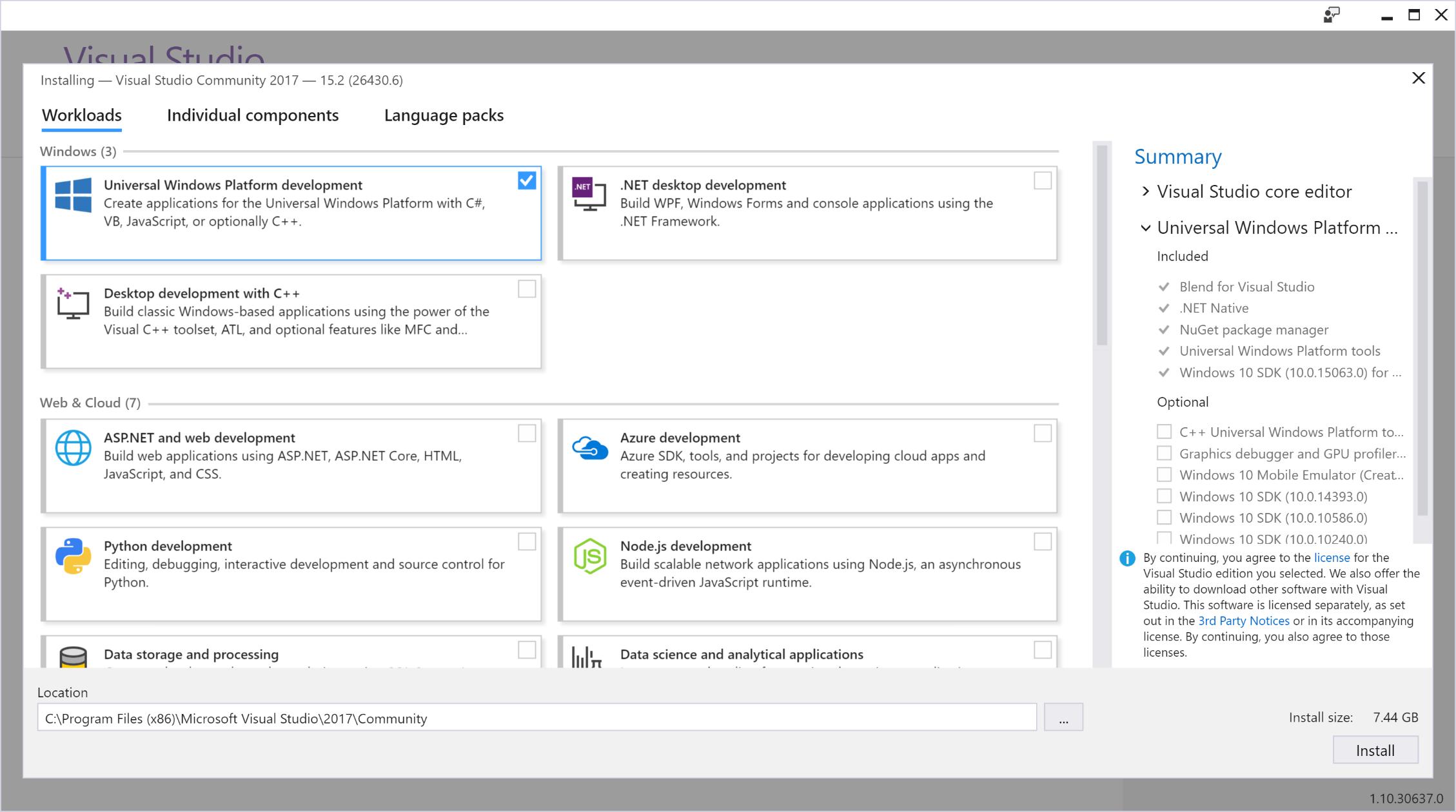 Install The Tools Mixed Reality Microsoft Docs
