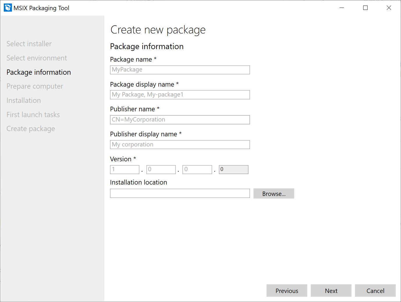 Msix Packaging Tool Driver