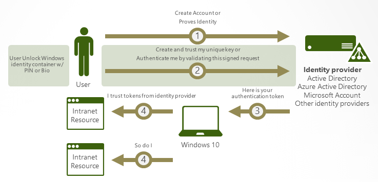 How authentication works in Windows Hello