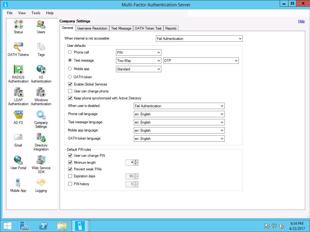 Configure or Deploy Multifactor Authentication Services (Windows