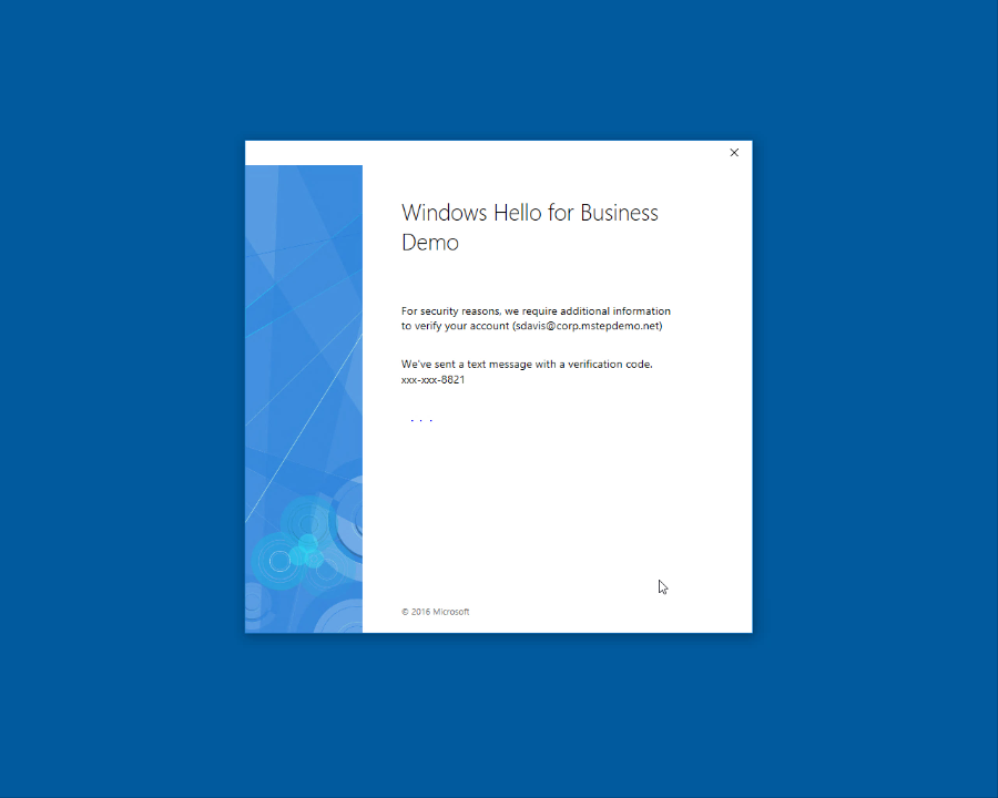 Hybrid Windows Hello for Business Provisioning (Windows Hello for