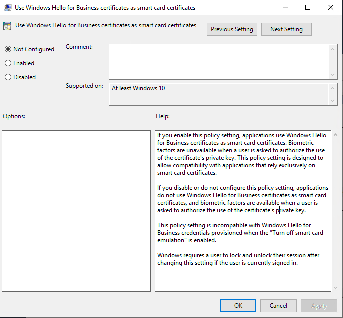 Windows Hello For Business Features Microsoft Docs