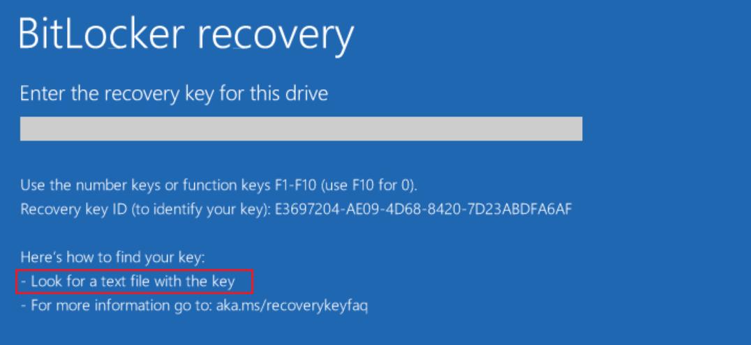 Bitlocker Recovery Guide Windows 10 Microsoft 365 Security
