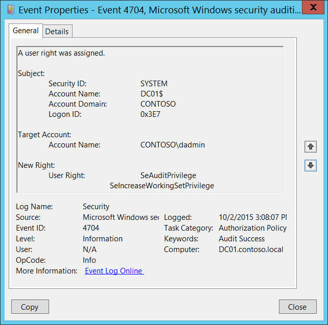 common windows event ids