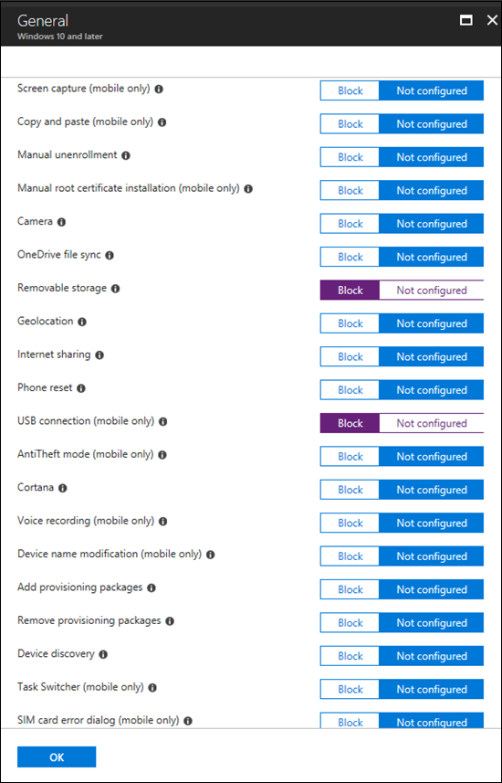 How to control USB devices and other removable media using Intune