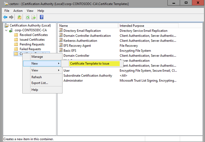 Optional create a code signing certificate for code integrity select certificate template to issue yadclub
