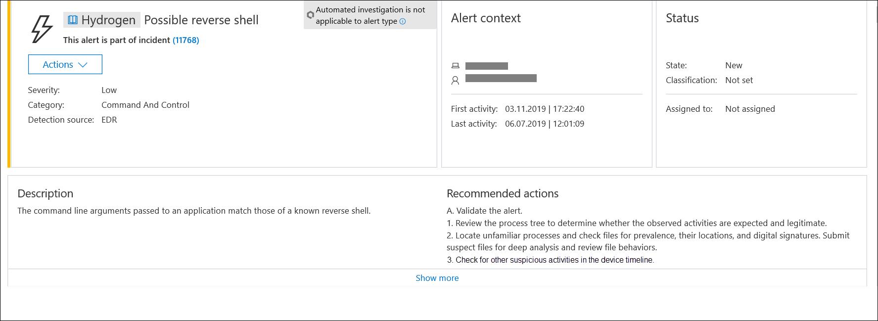 Investigate Microsoft Defender Advanced Threat Protection