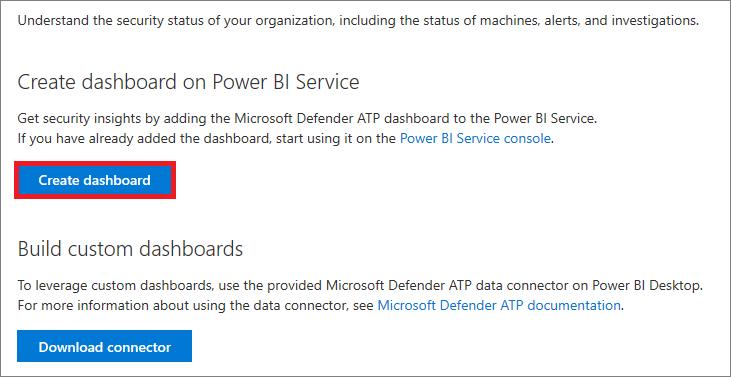 Create and build Power BI reports using Microsoft Defender