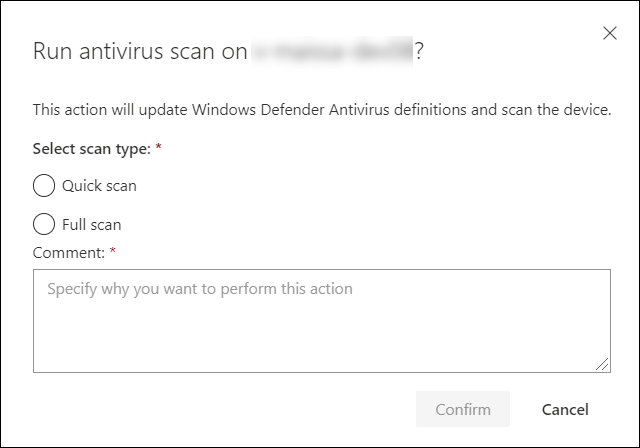 Take response actions on a machine in Microsoft Defender ATP