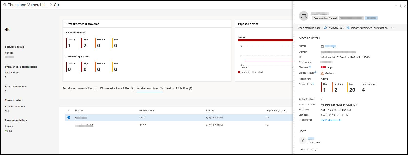 Threat & Vulnerability Management scenarios   Microsoft Docs