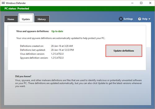 Windows Defender AV event IDs and error codes | Microsoft Docs