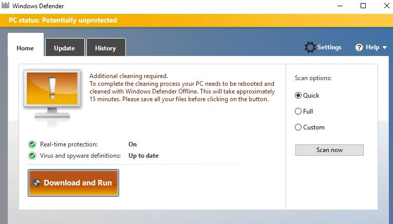 Windows Defender Offline in Windows 10 | Microsoft Docs