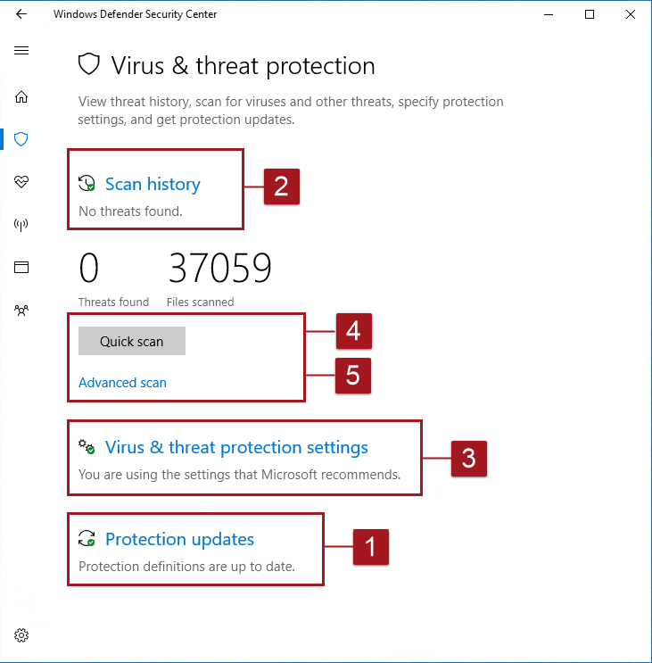 Windows Defender Antivirus In The Windows Security App Microsoft Docs