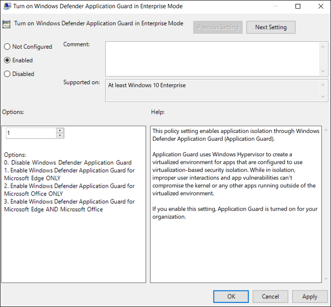 testing scenarios using windows defender application guard in your