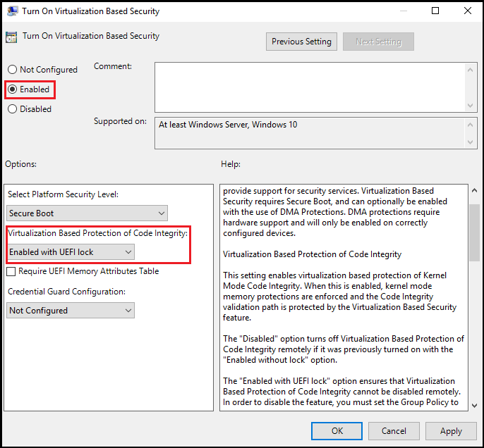 Enable virtualization-based protection of code integrity | Microsoft