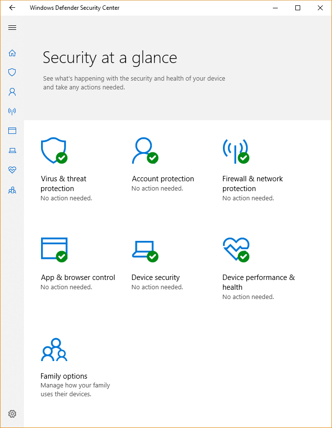 The Windows Security app | Microsoft Docs