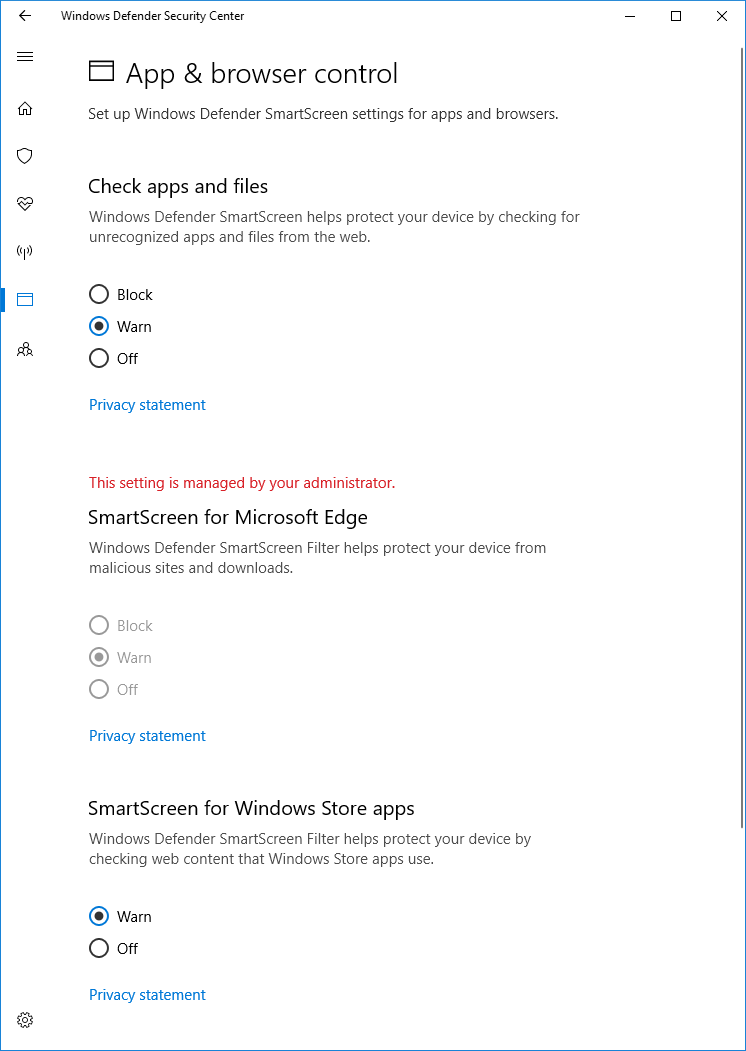 windows defender smartscreen disable windows 10