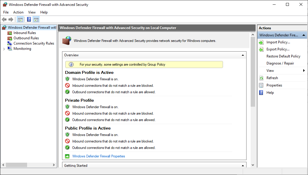 Best Practices For Configuring Windows Defender Firewall Windows Security Microsoft Docs