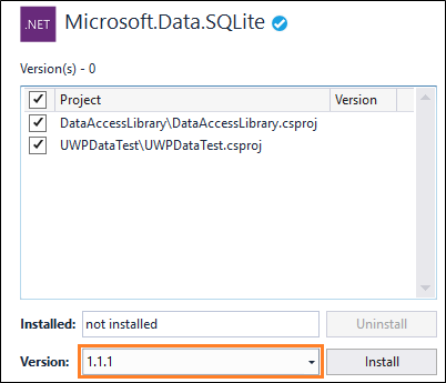 Use a SQLite database in a UWP app - Windows UWP applications
