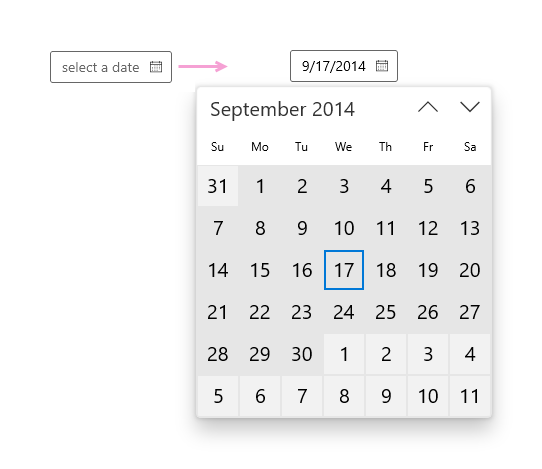 Guidelines for date and time controls - Windows UWP