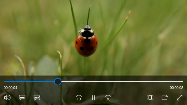 Media player uwp app developer microsoft docs media player element with transport controls ccuart Images