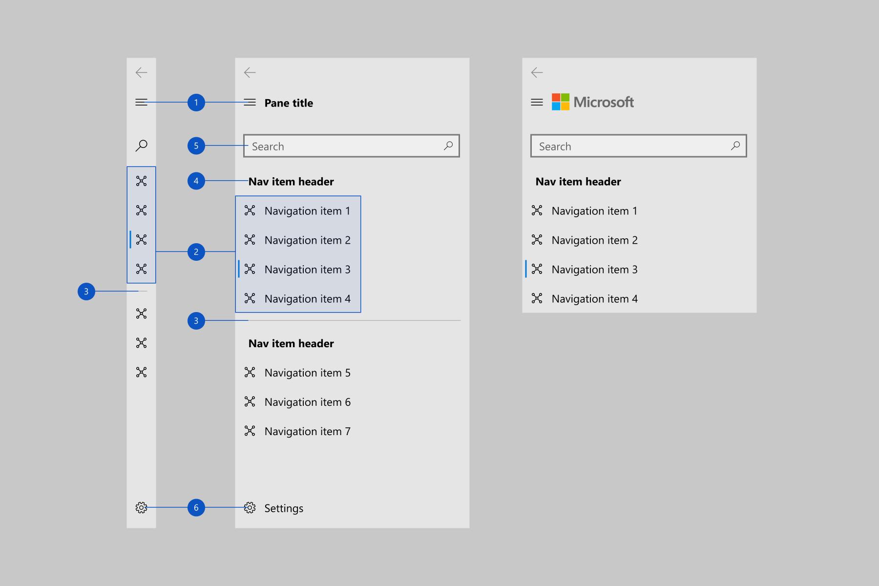 Navigation view - Windows UWP applications | Microsoft Docs