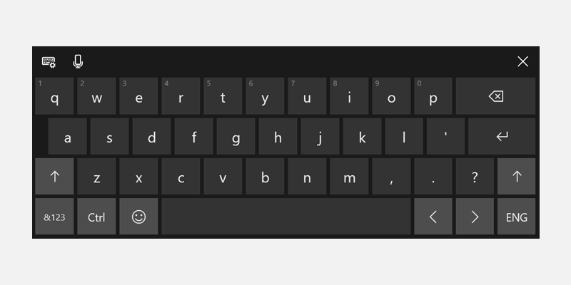Respond to the presence of the touch keyboard uwp app developer the touch keyboard in default layout mode ccuart Gallery
