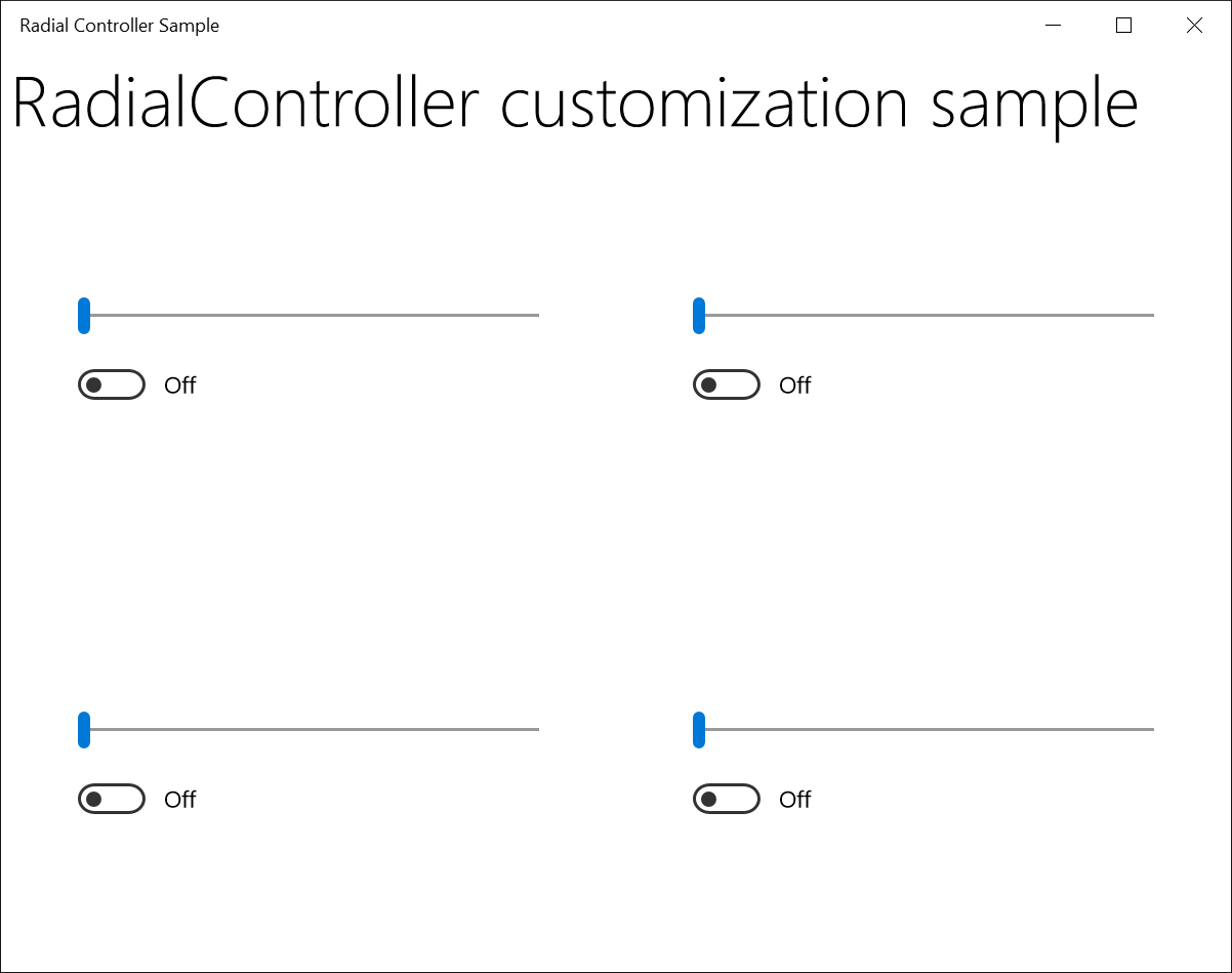 Surface dial interactions uwp app developer microsoft docs image of the sample app ui falaconquin