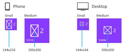 special tile templates windows uwp applications microsoft docs