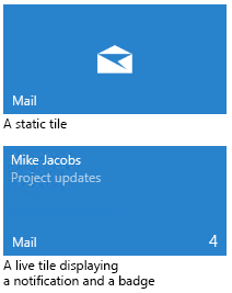 Tiles, badges, and notifications - Windows UWP applications