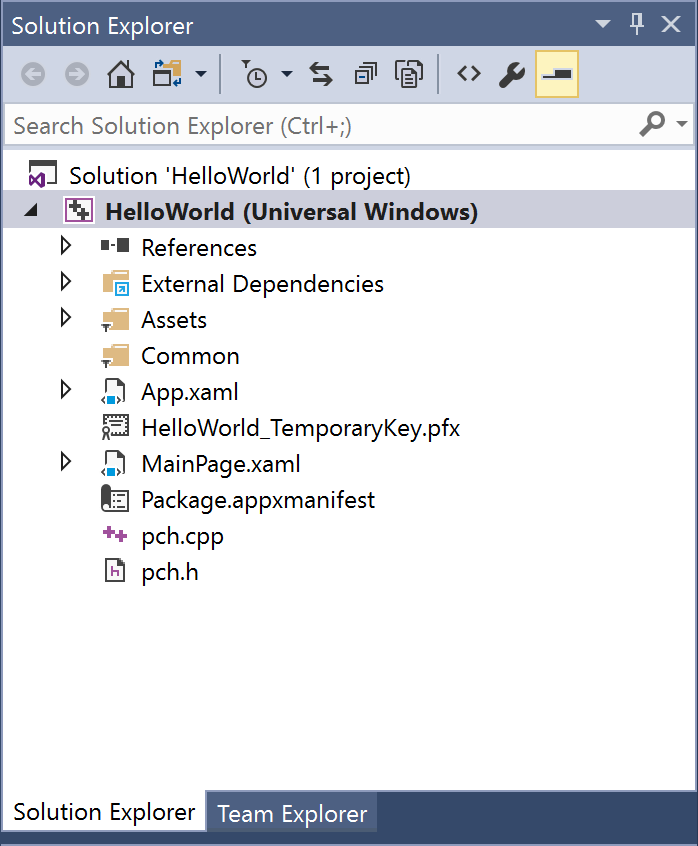 Create a Hello World app in C++/CX (Windows 10) - Windows UWP