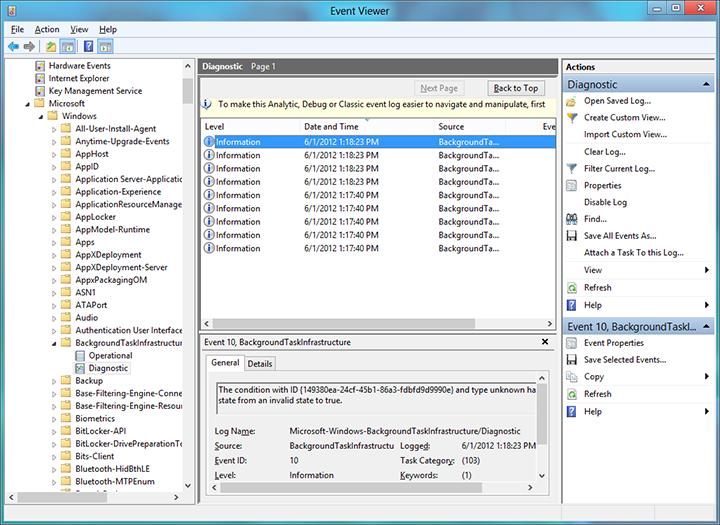 debug a background task