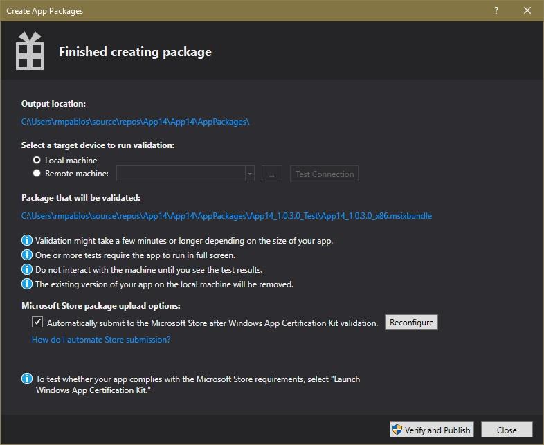 Packaging UWP apps - UWP app developer | Microsoft Docs