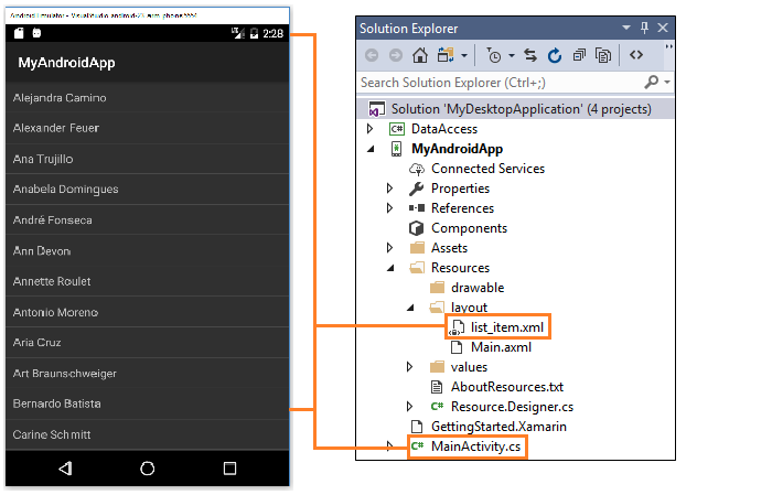 Android padding xml example