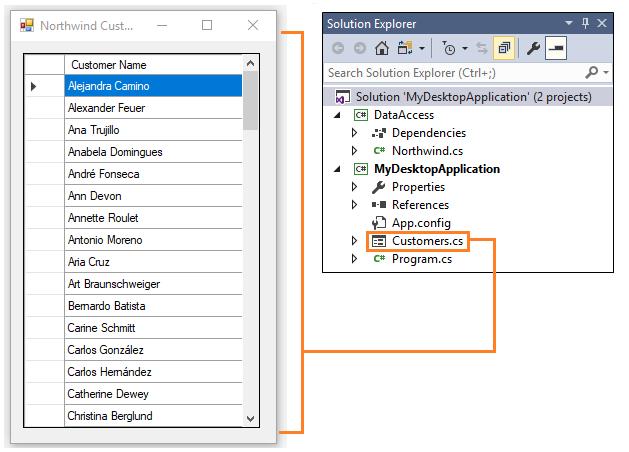 Share code between a desktop application and a UWP app