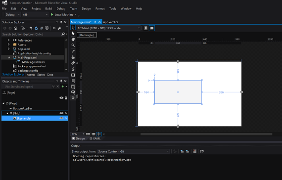 Getting started with Animation - Windows UWP applications