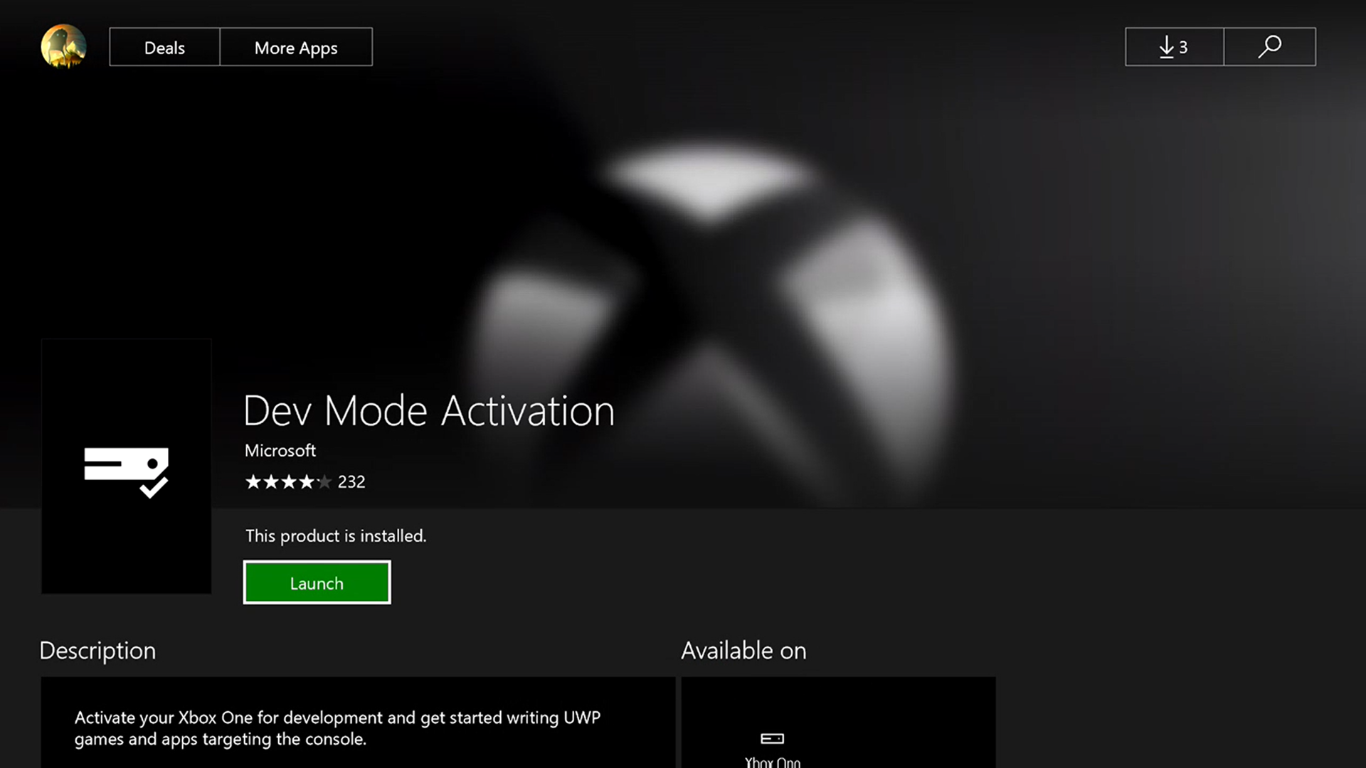 Xbox One Developer Mode activation - Windows UWP