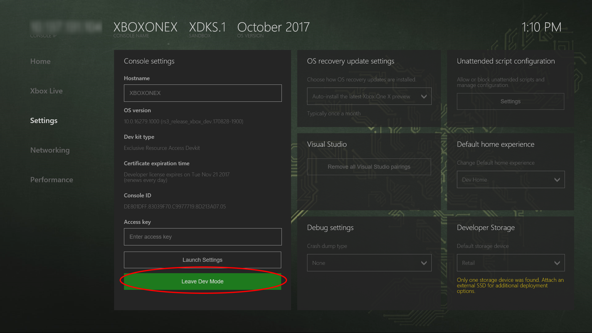 How to do hard reset on xbox one s