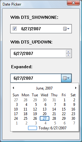 About Date and Time Picker Controls - Windows applications