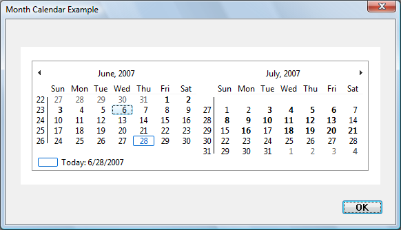 about month calendar controls microsoft docs
